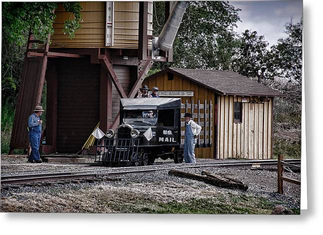 Narrow Gauge Steam Train Greeting Cards - Mail Delivery on the Rio Grande Southern Greeting Card by Ken Smith