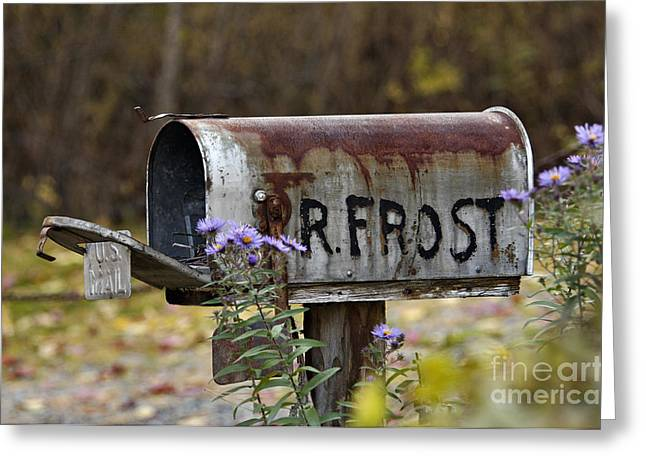 Mail For R Frost - D005926 Greeting Card by Daniel Dempster