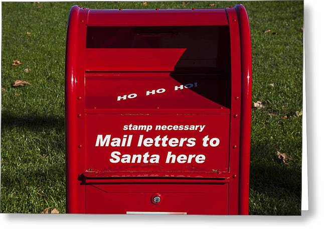 Ho Ho Ho Greeting Cards - Mail Letters To Santa Here Greeting Card by Garry Gay