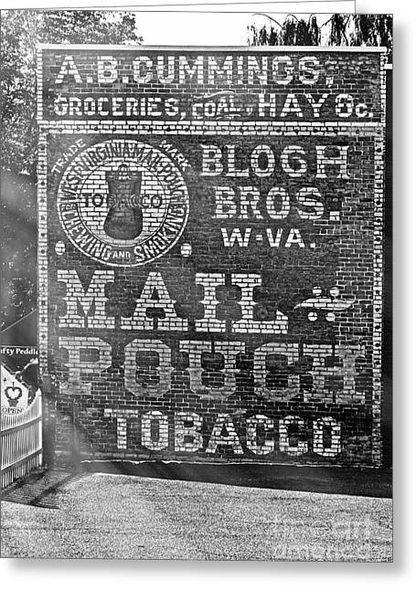 Grocery Store Greeting Cards - Mail Pouch Advertisement Greeting Card by Tom Gari Gallery-Three-Photography