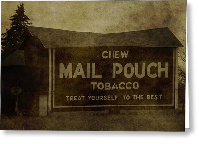 Chewing Tobacco Greeting Cards - Mail Pouch Barn Greeting Card by Dan Sproul