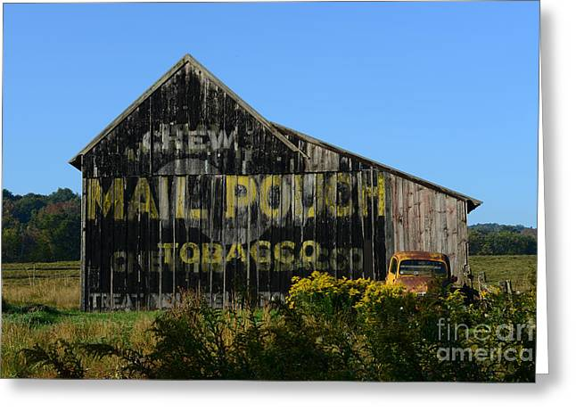 Chewing Tobacco Greeting Cards - Mail Pouch Barn Greeting Card by Paul Ward