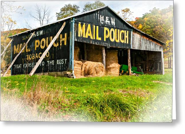 Chewing Tobacco Greeting Cards - Mail Pouch Barn vignette Greeting Card by Steve Harrington