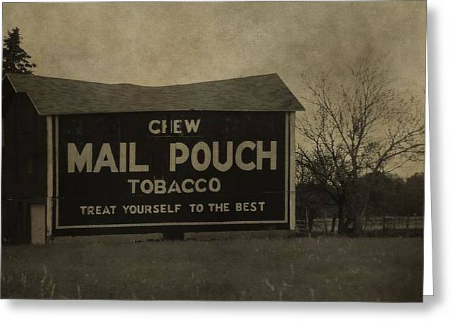 Chewing Tobacco Greeting Cards - Mail Pouch Tobacco Barn Greeting Card by Dan Sproul