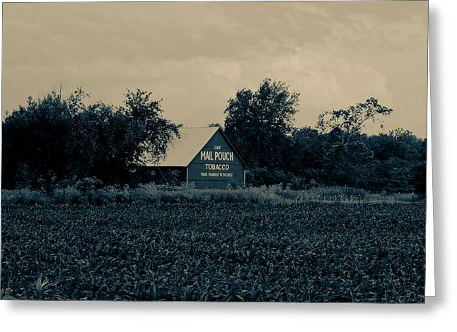 Indiana Farms Greeting Cards - Mail Pouch Tobacco Barn Greeting Card by Off The Beaten Path Photography - Andrew Alexander