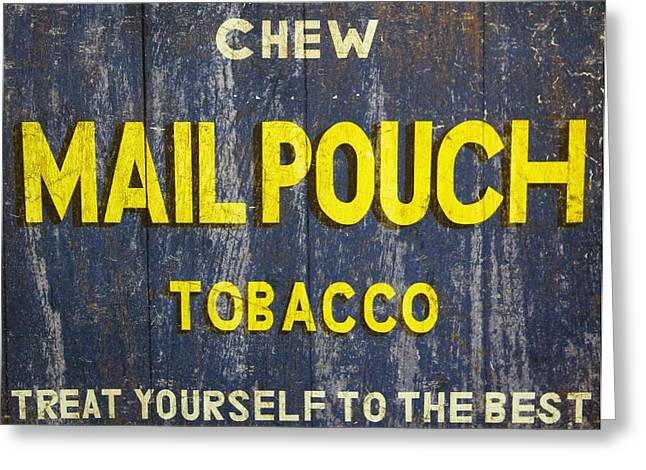 Smoker Greeting Cards - Mail Pouch Tobacco Greeting Card by Dan Sproul