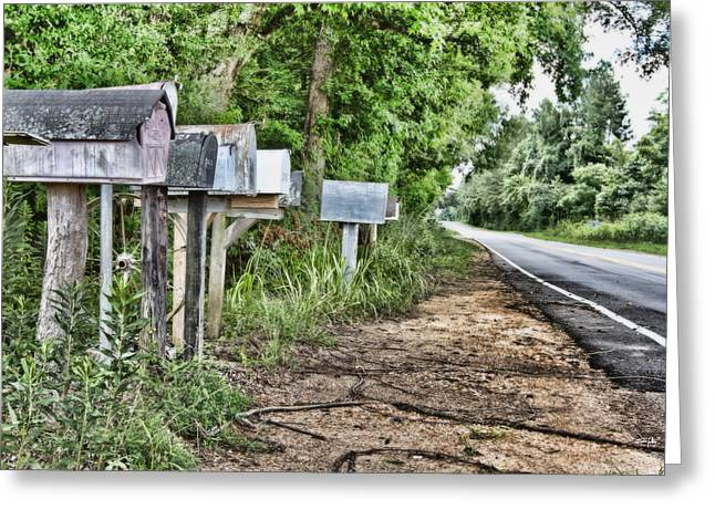 Black Top Greeting Cards - Mail Route Greeting Card by Scott Pellegrin