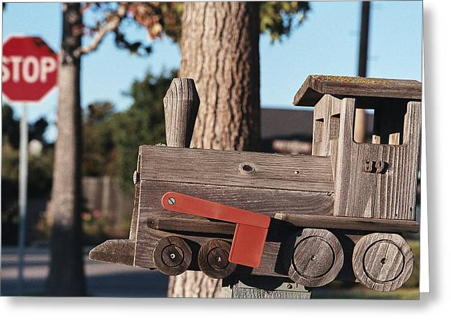 Mail Stop Greeting Card by Caitlyn  Grasso
