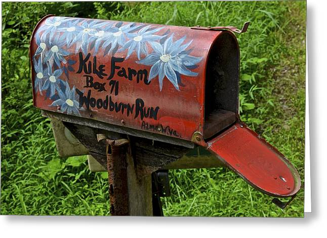 Postal Greeting Cards - Mailbox Greeting Card by Frozen in Time Fine Art Photography