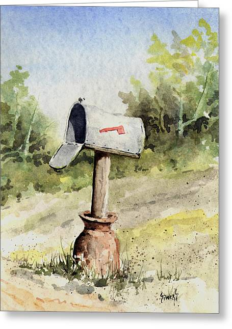 Mail Greeting Cards - Mailbox Greeting Card by Sam Sidders
