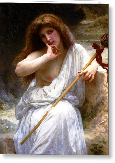 Romanticism Greeting Cards - Mailice Greeting Card by William-Adolphe Bouguereau