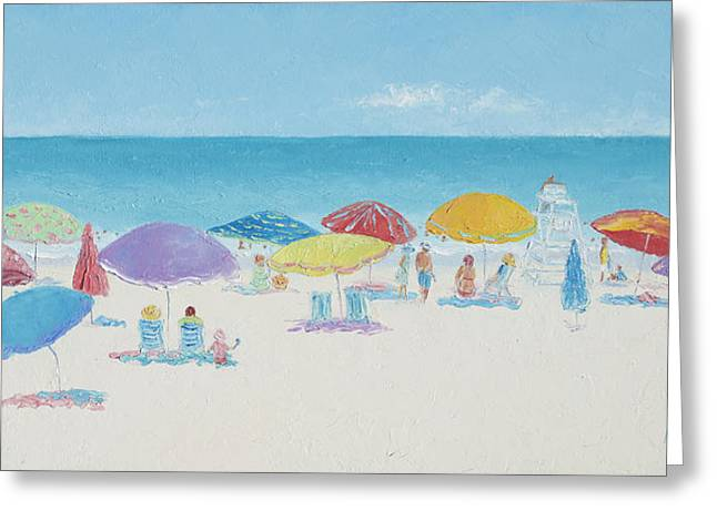 East Hampton Paintings Greeting Cards - Main Beach East Hampton  Greeting Card by Jan Matson