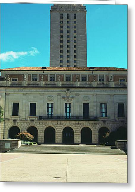 Main Building Of University Of Texas Greeting Card by Panoramic Images