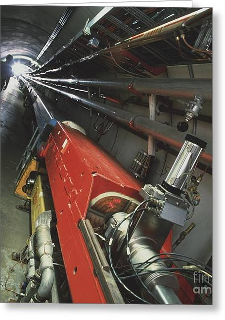 Particle Accelerator Greeting Cards - Main Ring & Tevatron Accelerators Greeting Card by David Parker