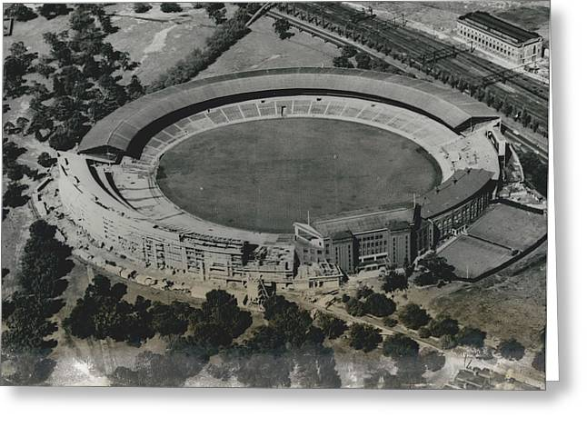 Retro Photography Greeting Cards - Main Stadium For The 1956 Olympic Games,, Melbourne Cricket Ground. Greeting Card by Retro Images Archive