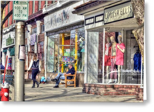 Toy Shop Greeting Cards - Main Street - Great Barrington - No.3 Greeting Card by Geoffrey Coelho