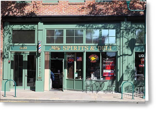 Main Street Americana Pleasanton California 5d23985 Greeting Card by Wingsdomain Art and Photography