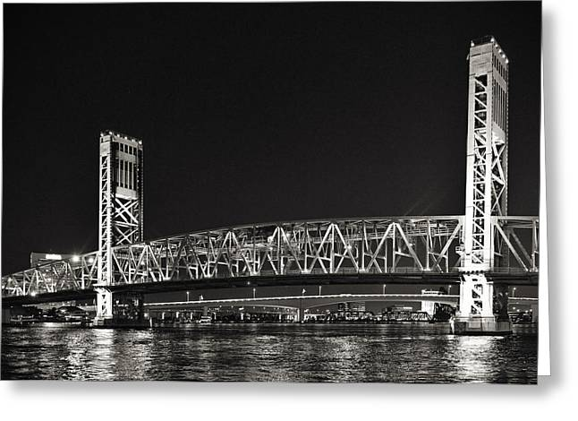 Best Sellers -  - Main Street Greeting Cards - Main Street Bridge Jacksonville Florida Greeting Card by Christine Till