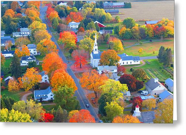 Western Massachusetts Greeting Cards - Spectacular New England Foliage Greeting Card by Rachael McGrath