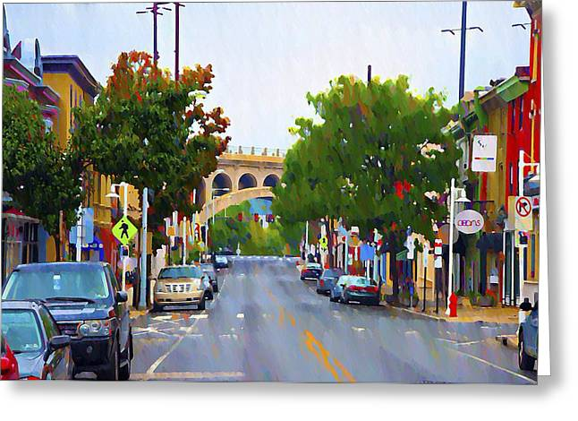 Main Street Greeting Cards - Main Street in Manayunk Greeting Card by Bill Cannon