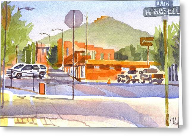 Main Street Greeting Cards - Main Street in Morning Shadows Greeting Card by Kip DeVore