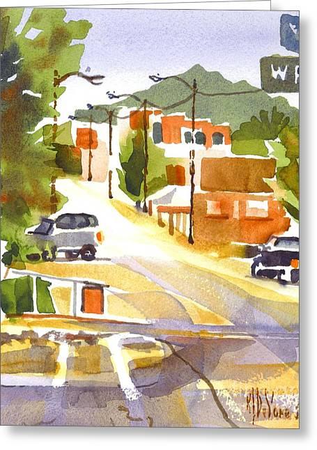 Main Street Greeting Cards - Main Street Ironton Missouri 2 Greeting Card by Kip DeVore