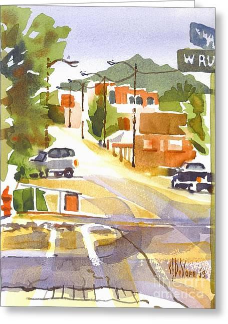 Main Street Ironton Missouri Greeting Card by Kip DeVore