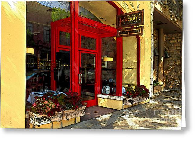 Napa Valley Digital Greeting Cards - Main Street Market Greeting Card by James Eddy