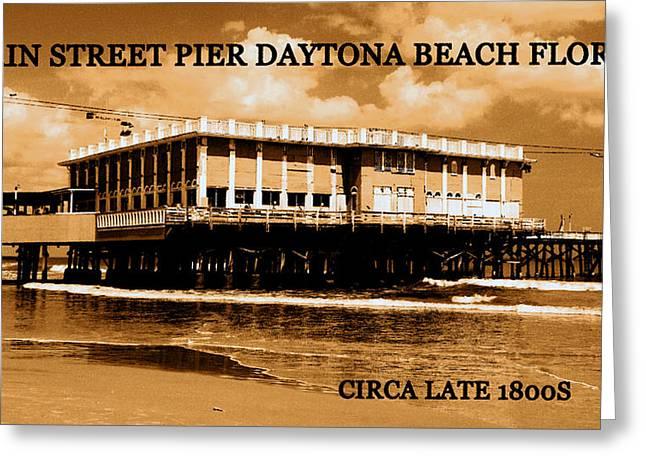 Main Street Greeting Cards - Main Street Pier Greeting Card by David Lee Thompson