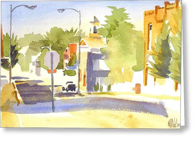 Main Street Greeting Cards - Main Street South Greeting Card by Kip DeVore