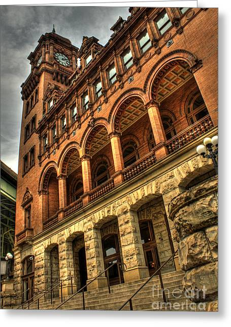 Best Sellers -  - Main Street Greeting Cards - Main Street Station Greeting Card by Tim Wilson