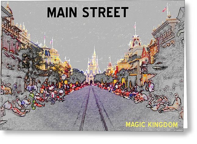 Main Street U.s.a. Greeting Card by David Lee Thompson