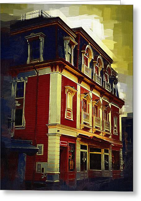 New England Village Greeting Cards - Main Street USA Greeting Card by Kirt Tisdale