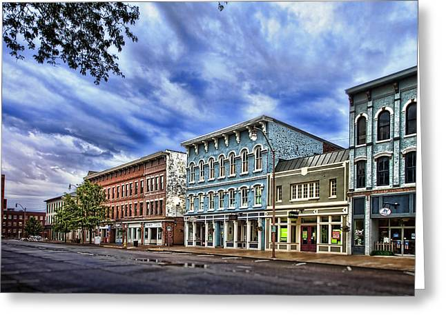 Main Street Usa Greeting Card by Tom Mc Nemar