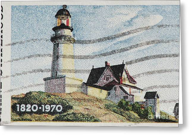 Maine 1820-1970 Greeting Card by Andy Prendy