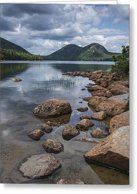 Jordan Greeting Cards - Maine Acadia Jordan Pond The Bubbles Greeting Card by Andy Gimino