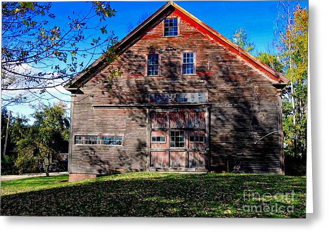 Weathervane Greeting Cards - Maine Barn Greeting Card by Marcia Lee Jones