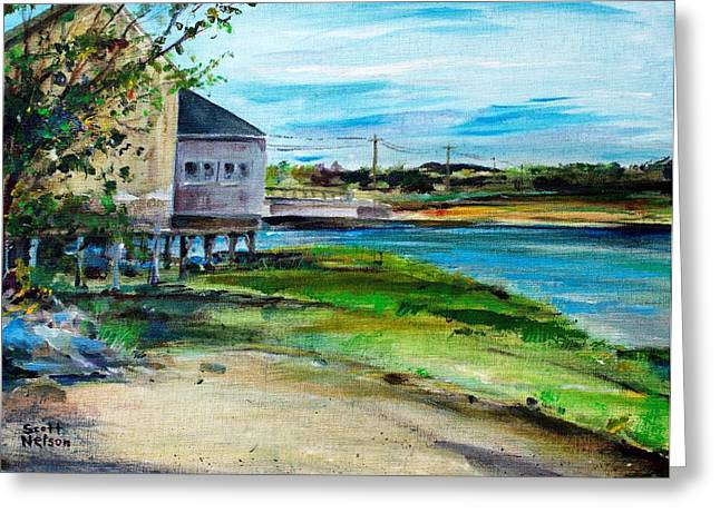 Best Sellers -  - Scott Nelson Greeting Cards - Maine Chowder House Greeting Card by Scott Nelson