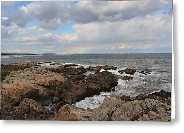 Maine Coast Greeting Card by Anne Clark