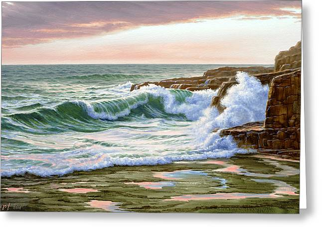 Maine Seascapes Greeting Cards - Maine Coast Morning Greeting Card by Paul Krapf
