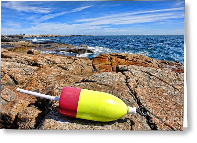 Maine Coast Greeting Card by Olivier Le Queinec