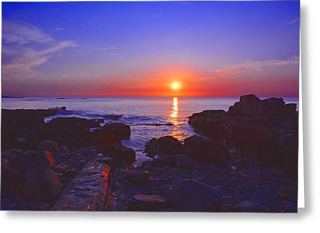 Raymond Salani Iii Greeting Cards - Maine Coast Sunrise Greeting Card by Raymond Salani III