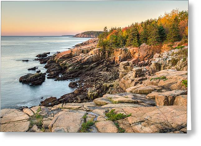 Maine Coastal Photograph - Acadia National Park Greeting Card by Bill Swindaman