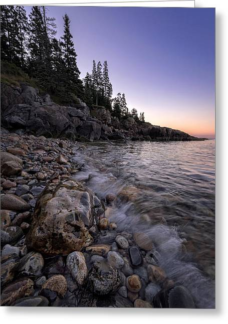 Maine Dawn Greeting Card by Rick Berk