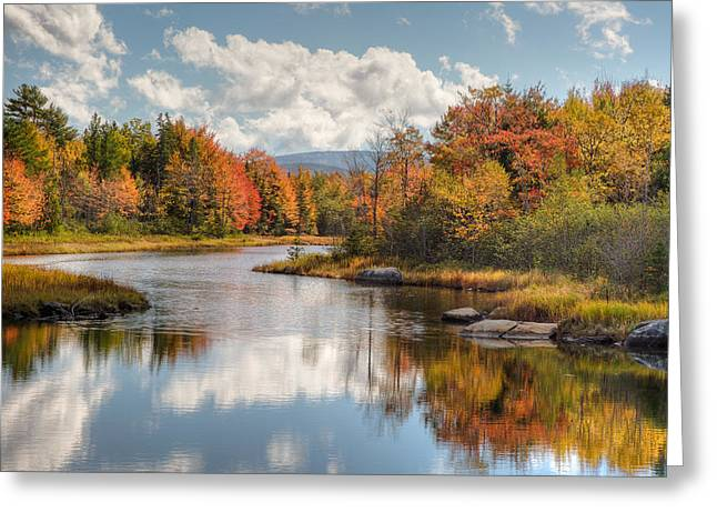 Fall Scenes Greeting Cards - Maine Fall Foliage Photograph - Acadia Bar Harbor Area Greeting Card by Bill Swindaman