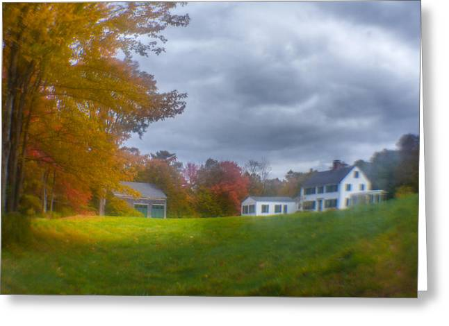 Maine Farmhouse Greeting Cards - Maine Farmhouse  Greeting Card by Edmund Prescottano