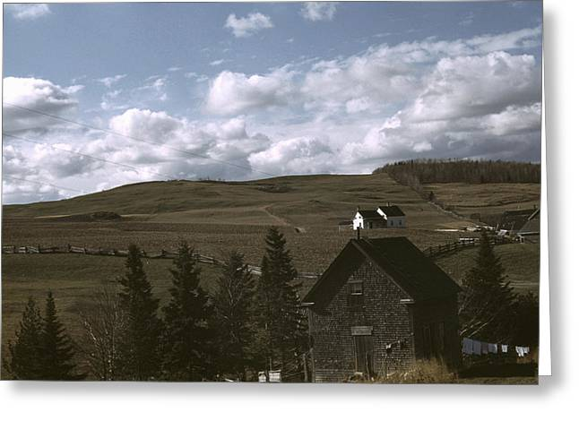 Maine Farmland, 1940 Greeting Card by Granger