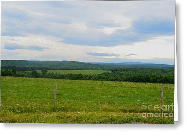 Maine Agriculture Greeting Cards - Maine farmland Greeting Card by Meandering Photography