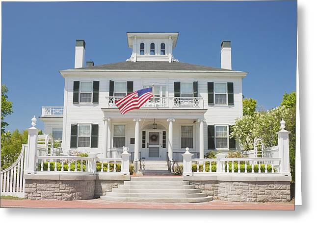 Front Steps Greeting Cards - Maine Governers Mansion Blaine House Augusta Greeting Card by Keith Webber Jr