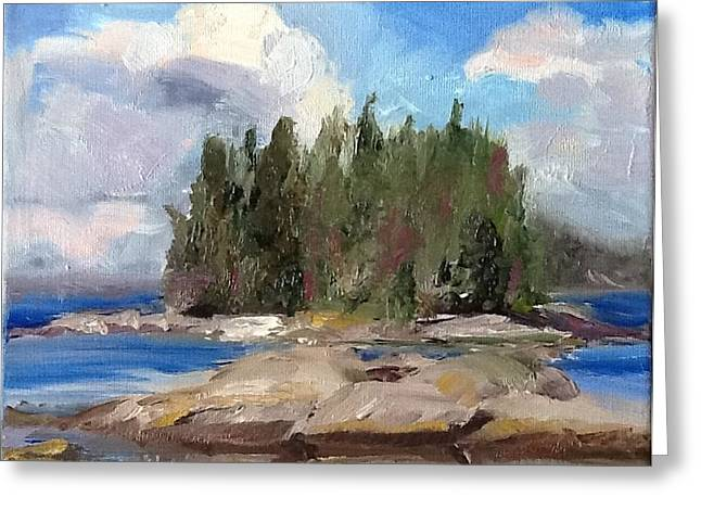 Maine Islands Greeting Cards - Maine Island Greeting Card by Patty Kay Hall